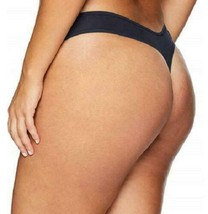 Calvin Klein Women Form Plus Size Thong 3X Shoreline Blue Navy NWT image 2