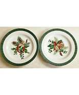 "Royal Gallery Garland 2 Salad Plates ""N"" and ""O"" Made for MPD Indonesia 1992  - $23.38"