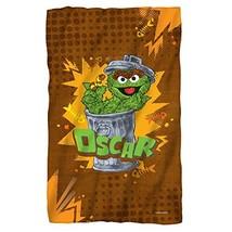 """Sesame Street Oscar The Grouch Fleece Throw Blanket 36""""x58"""" - $38.70"""