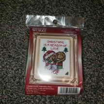 Design Works Counted Cross Stitch Cat On Presents Kit 2 X 3 - $14.99