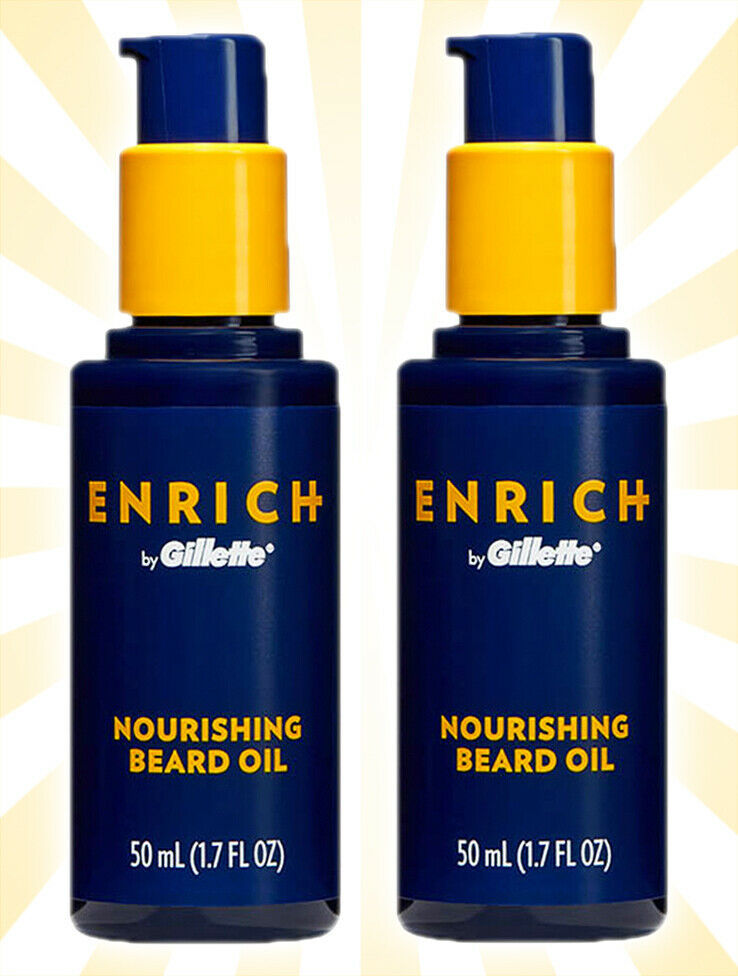 Primary image for 2 Enrich by Gillette Nourishing Beard Oil 1.7 OZ