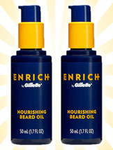 2 Enrich by Gillette Nourishing Beard Oil 1.7 OZ - $18.80