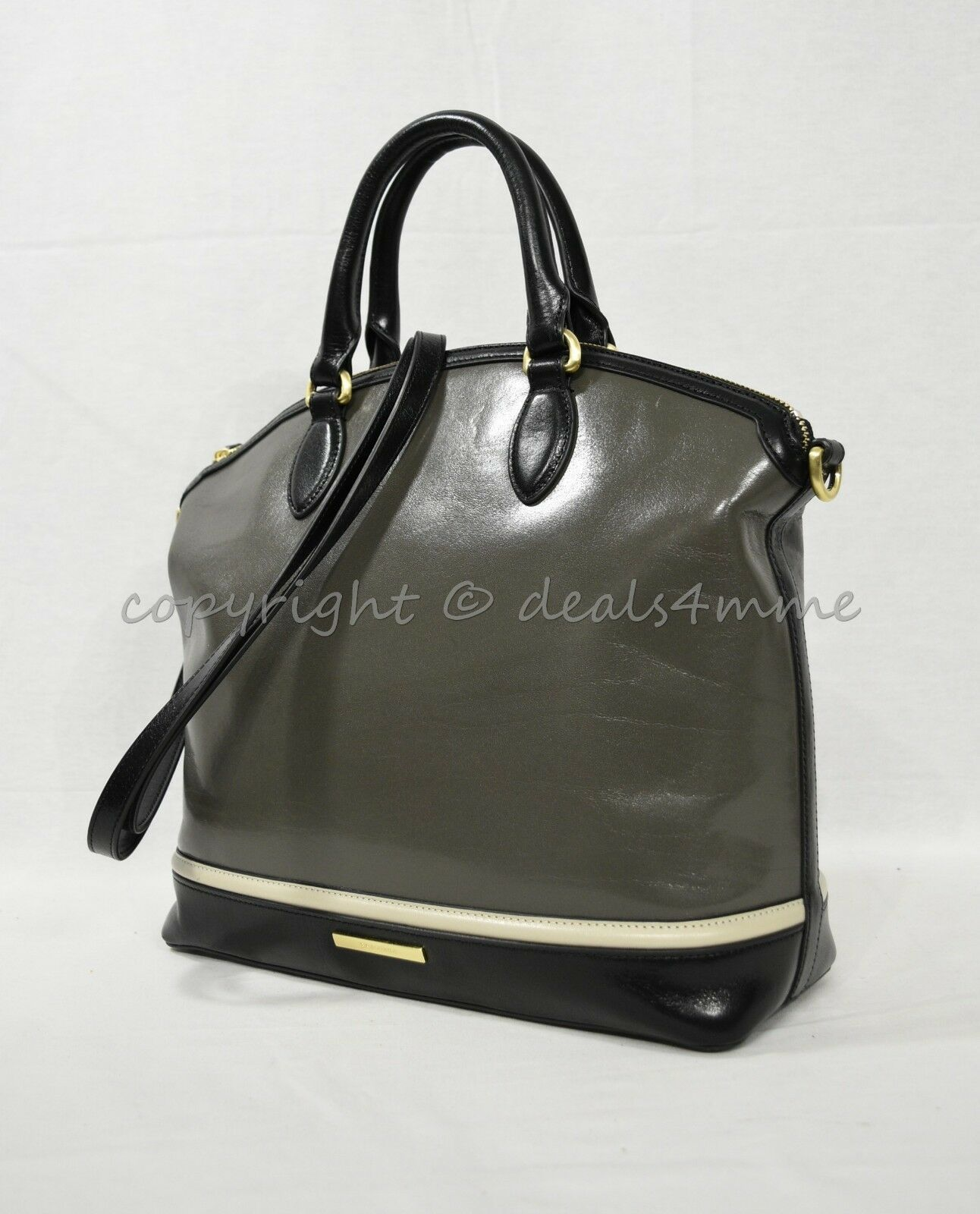 NWD Brahmin Large Duxbury Satchel/Shoulder Bag in Charcoal Westport image 2