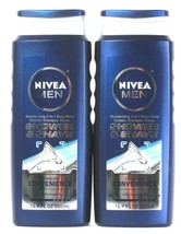 2 Nivea Men 16.9 Oz 3 In 1 Body Wash Shower & Shave Shampoo With Avocado... - $20.99