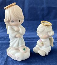Precious Moments Porcelain Angels, May and Baby with Flower, Enesco, 199... - $9.97+
