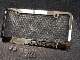 OEM Ford Ranger Chrome Engraved License Plate Frame w/ Logo Screw Caps - $22.99