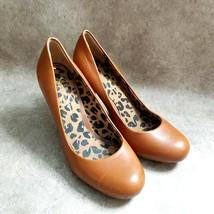 "Jessica Simpson Womens Oscar  Size 7 B Brown  Leather Slip On 4"" Heels P... - $19.99"