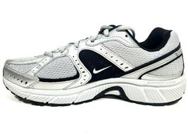 Nike Mens Shoes Dart VII Running Sneakers Silver Mesh Athletic 354491 001 - $39.99+