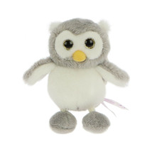 NICI Owl Olinka Gray White Stuffed Animal Plush Beanbag Key Chain 4 inches - $11.99