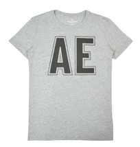 American Eagle Mens Heather Grey AE Big Logo Graphic Tee Shirt Small S 3... - $19.59