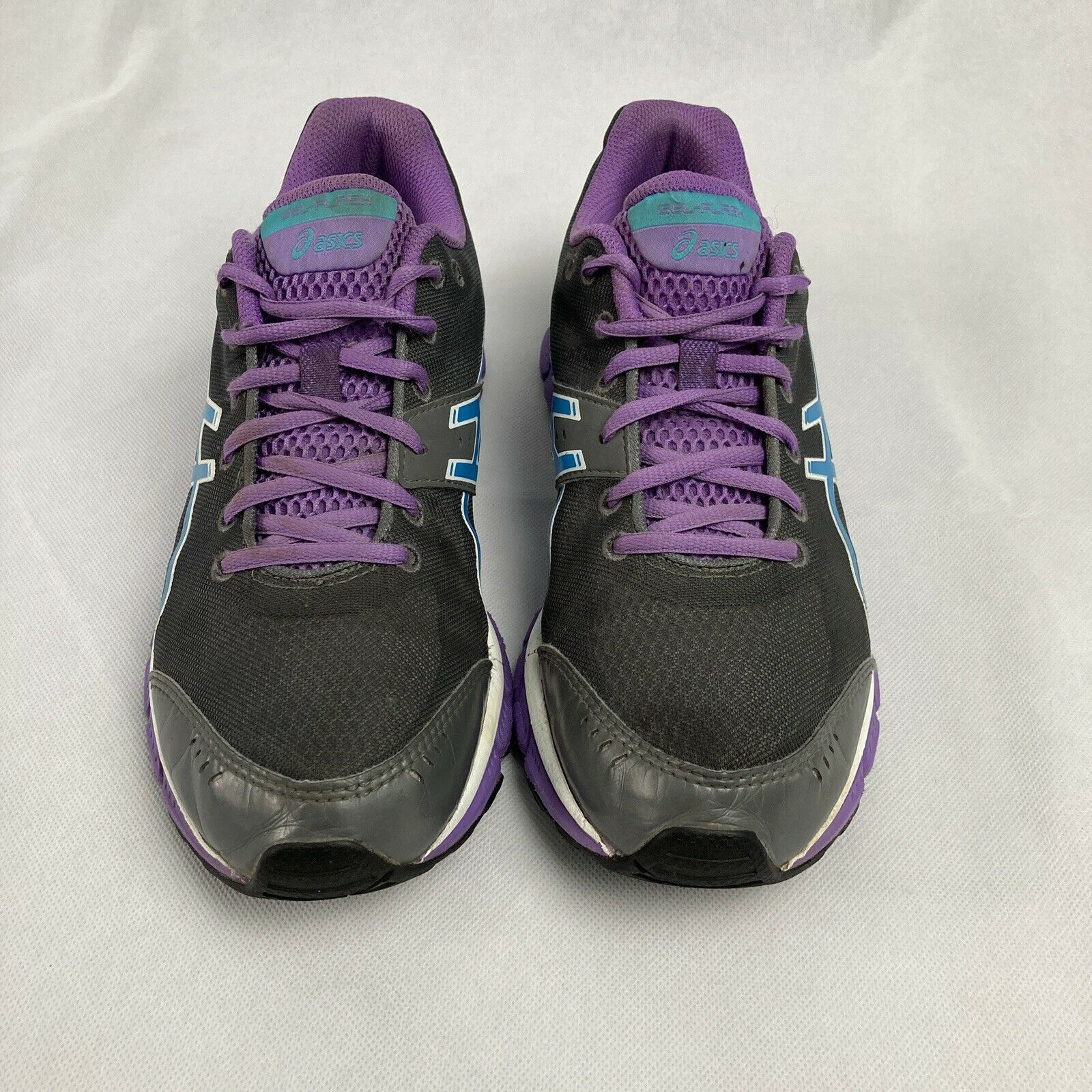 Primary image for Womens Asics Gel Flash Running Training Black/ Purple Shoes size 9.5 T2J5N