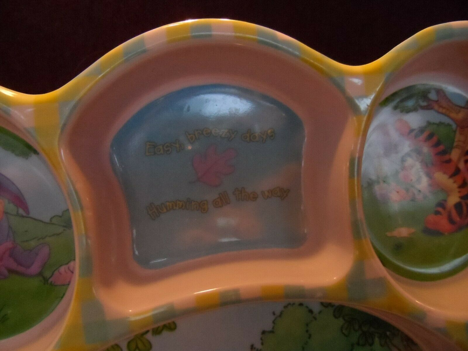 Disney Winnie the Pooh Character Plastic Divided Kids Plate image 3