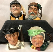 "Collection of 6"" Royal Doulton Character Mugs: Gamp, Crusoe, Gunsmith, Y... - $445.50"