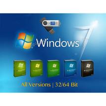 Windows 7 32-64 bit Reinstall Recovery All versions SP1 USB Flash Drive ... - $12.99+