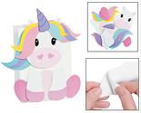 "DIY Unicorn Valentine Card Holder Paper Bag Craft Kit (6"" x 3"" x 9"""