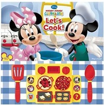 Disney Mickey Mouse Clubhouse Let's Cook Book Interactive Cooktop Utensi... - $18.66