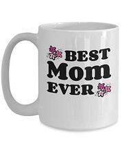 An item in the Pottery & Glass category: Cute Ceramic Coffee Mugs Best Mom Pink Flowers Novelty Cups Holiday Gift for Her
