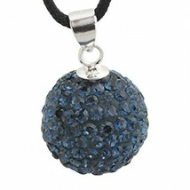 Pendant sterling silver with swarovski crystals zd1026 new new - $8.30