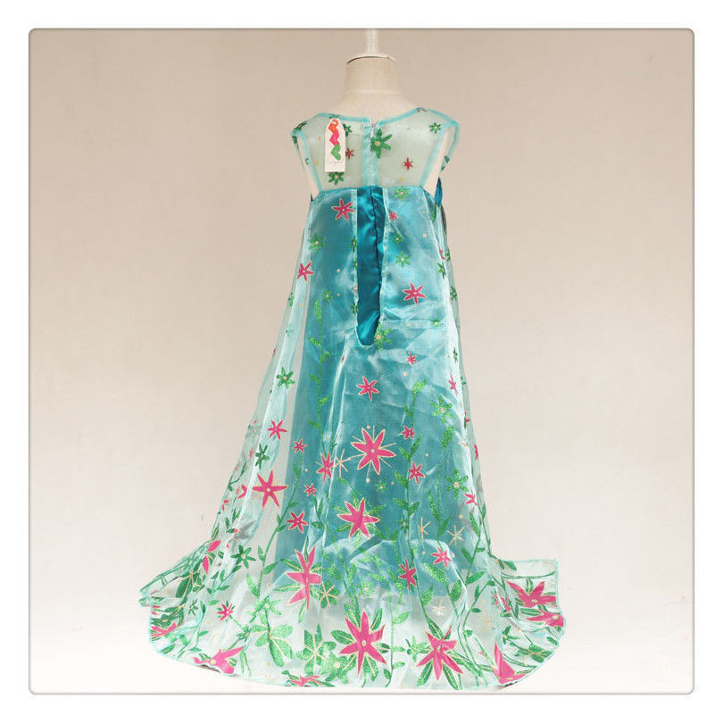 «´¨`• Princess Frozen Fever Elsa Costume - 6/6X..°•´¨`» FREE Shipping from US!