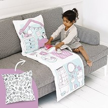 Sago Mini 2-in-1 Fold Up Pillow Playset, Robin's Doll House with Plush Accessori