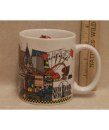 Coffee Mug Cup New York Big Apple Statue of Liberty Casino Cards - $10.84