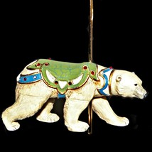 Hallmark Grand Polar Bear Christmas Carousel Ride Keepsake Ornament 4th n Series - $24.99