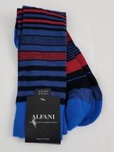 Alfani Men's Multi Color Striped  Socks  Black One Size - $5.99