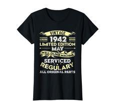 Uncle Shirts -   Vintage May 1942 76th Year Old Birthday Shirt Gift Wowen image 2