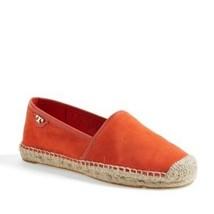 Tory Burch McKenzie Espadrille Shoes Orange Suede Leather 6.5M Flats  - $64.24