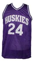 A.Tyler #24 HuskiesThe 6th Man Movie Basketball Jersey Sewn Purple Any Size image 3