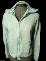STEVE & BARRY Hoodie Sweatshirt S Light Blue Zip stretch fit Yoga athlet... - $3.95