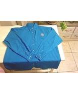 BLUE GENERATION-Unisex-XL-Long Sleeve-Button Up-Dress Shirt-Blue-Embroid... - $6.29