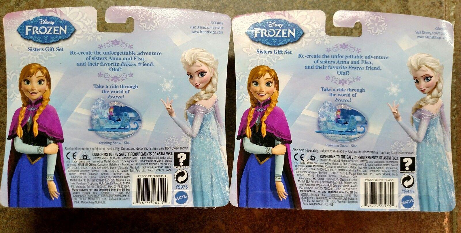 2 Walt Disney 2013 Frozen Sister Gift Sets Princess Elsa Anna Olaf toy figures image 2
