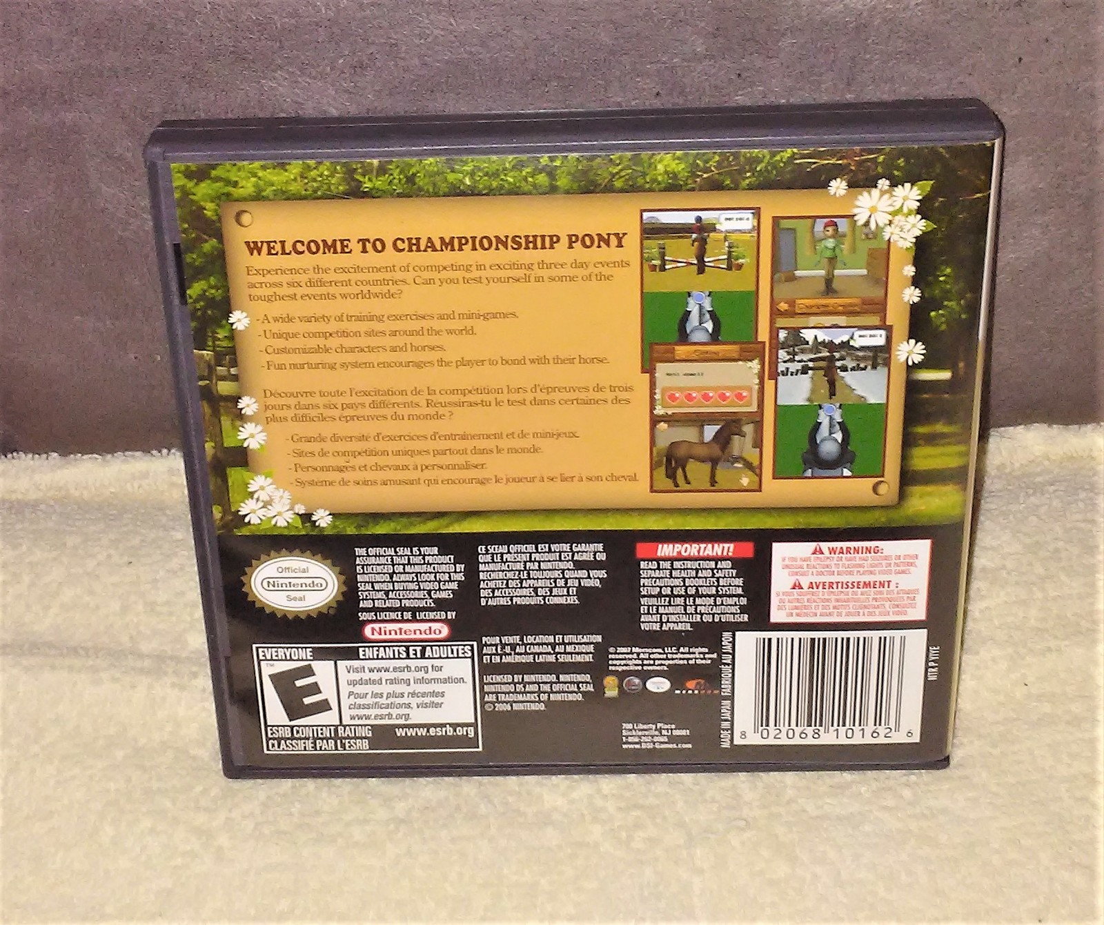 Nintendo DS CHAMPIONSHIP PONY Video Game in case with Instructions from 2007 image 2
