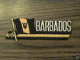 100% EMBROIDERED BARBADOS COUNTRY,RARE.FLAG Patriotic souvenir  PATCH - $9.50