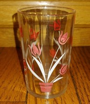 """Vintage Swanky Swig """"Red Tulip with White Leaf Juice Glass - $1.97"""