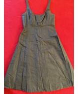 Jcrew Chocolate brown silk taffeta fit and flare dress size 6 regular - $36.04