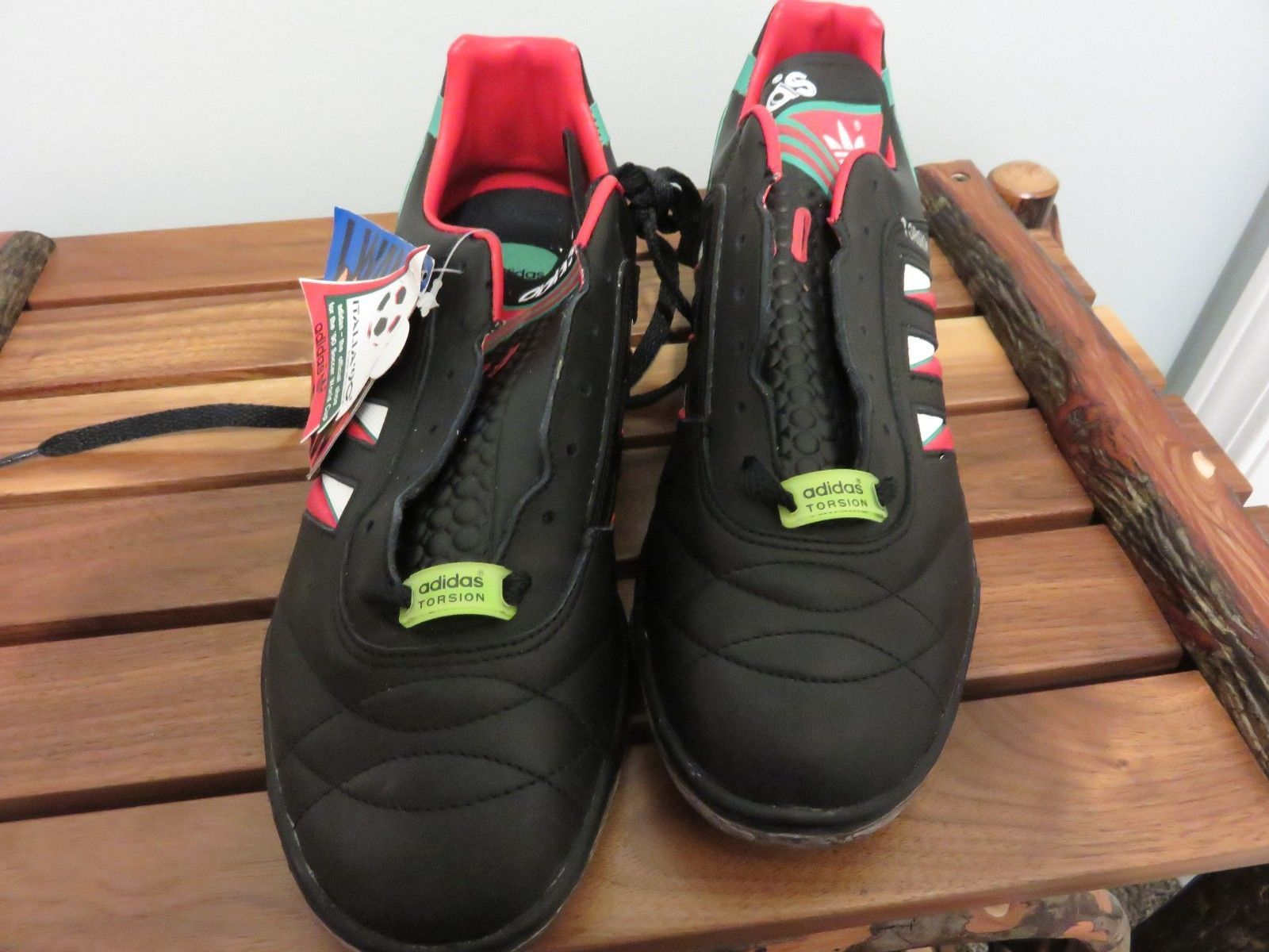1fe20ac4dfd NOS NWT Adidas Torsion PISA Soccer Shoes Extremely RARE Tri-Foil 1990 World  Cup
