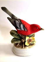 Scarlet Tanager Bird Figurine Napcoware Japan Limited Edition Series C-7250 - $18.80