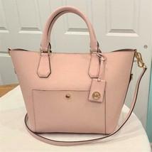 Michael Kors Greenwich Large Grab Bag Handbag Saffiano Leather Blossom F... - $111.38