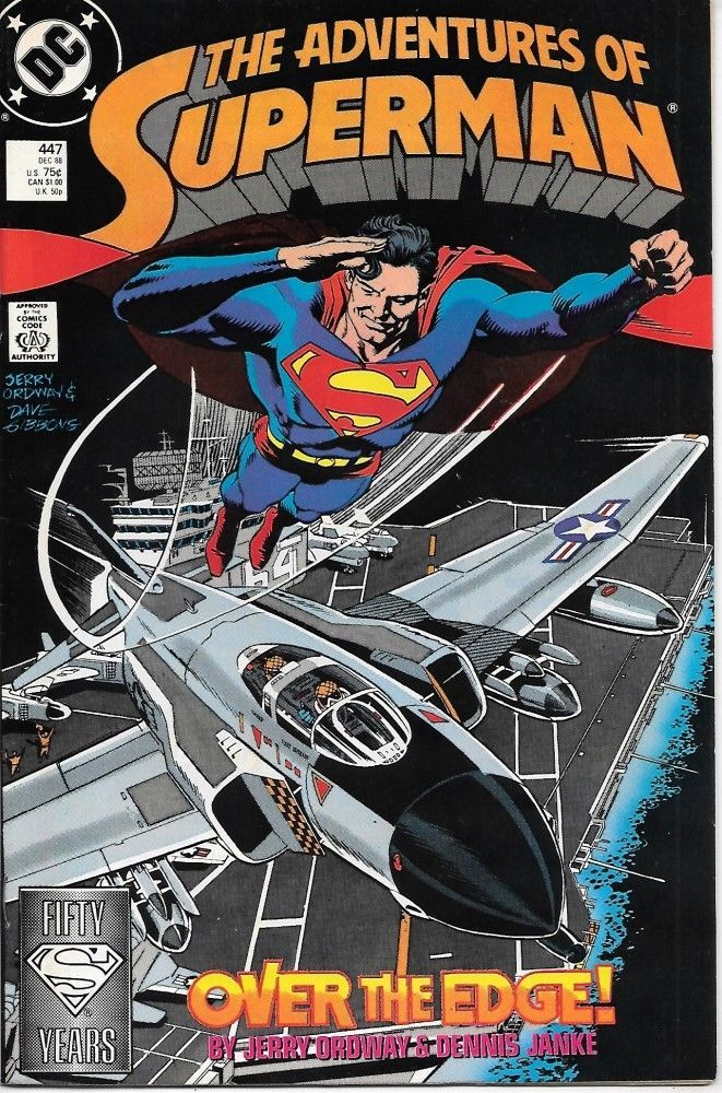 Primary image for The Adventures of Superman Comic Book #447 DC Comics 1988 VERY FINE+ UNREAD