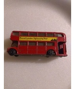 Miniature London 15 red double decker bus vintage 70's metal - $8.00