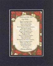 Touching and Heartfelt Poem for Sisters - Sharing with You, My Sister Poem on 11 - $15.79
