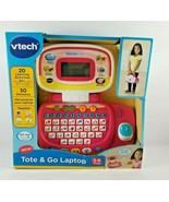 New Vtech Tote And Go Laptop Computer Kids Toddler Learning Games Education Pink - $89.99