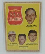 TOPPS #56 1961 NATIONAL LEAGUE ERA LEADERS (SPAHN, OTOOLE, SIMMONS,MCCO... - $5.54