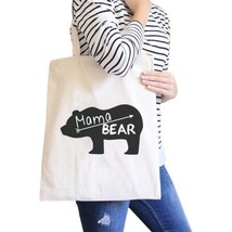 Mama Bear Natural Canvas Shoulder Bag Trendy Graphic Gift For Her - $15.99