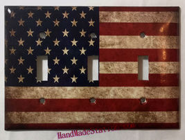 US USA United State Flag Light Switch Power Outlet Wall Cover Plate Home decor image 9