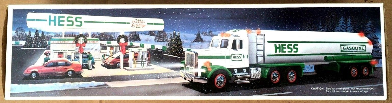 HESS Gasoline Toy Tanker Truck 1990 Original Box New 16 inches Long Collectible