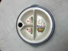 1944 BARTSCH Chrome Porcelain Bakelite Child's Warming Dish plate bowl - $8.56