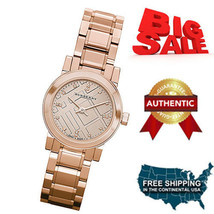 NEW Burberry BU9215 Watch Heritage Ladies Rose Gold Dial Stainless Steel... - $321.75
